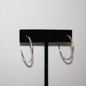 """Beautiful silver hoop earrings 1.25"""""""